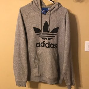 Gray Adidas Trefoil Hoodie